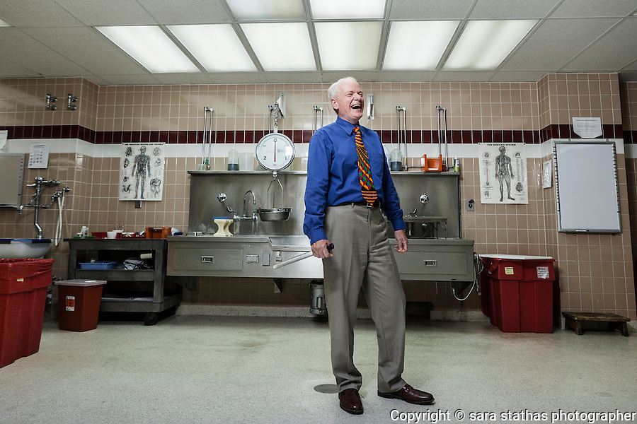 Dr. Brian Peterson, Milwaukee County Medical Examiner photographed at the Milwaukee County Morgue in the autopsy room