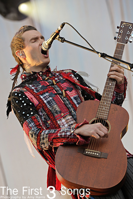 Jon Por Birgisson (aka. Jonsi) performs during the 2010 Voodoo Experience in New Orleans, Louisiana on October 29, 2010.