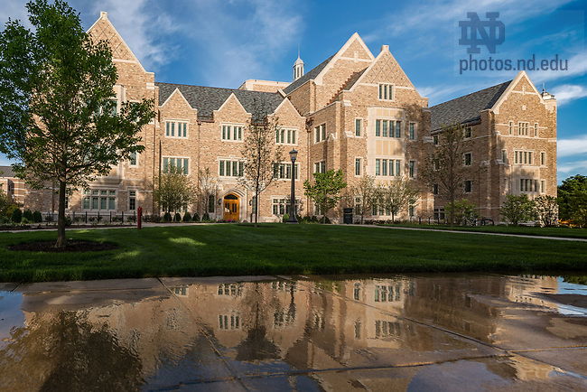 July 25, 2017; Jenkins and Nanovic halls shortly after the completion of construction, summer 2017. (Photo by Matt Cashore/University of Notre Dame)