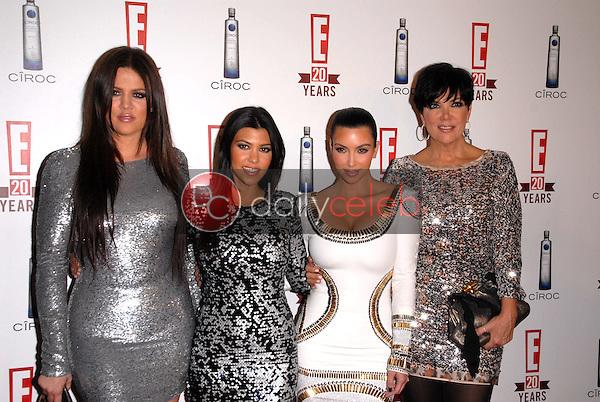 Khloe Kardashian, Kourtney Kardashian, Kimberly Kardashian and Chris Kardashian<br /> at E!'s 20th Birthday Bash Celebrating Two Decades of Pop Culture, The London, West Hollywood, CA. 05-24-10<br /> David Edwards/DailyCeleb.Com 818-249-4998