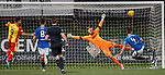Jak Alnwick makes himself big in goals to thwart the danger