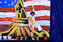 An artist celebrates finishing his work at the official opening ceremony prior to the 37th Ryder Cup Matches, September 16 -21, 2008 played at Valhalla Golf Club, Louisville, Kentucky, USA ( Picture by Phil Inglis ).... ......