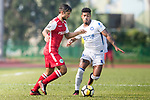 Shay Phillip Spitz of Kwoon Chung Southern (L) in action against Bruno da Silva Sabino R&F F.C in action during the week three Premier League match between Kwoon Chung Southern and R&F at Aberdeen Sports Ground on September 16, 2017 in Hong Kong, China. Photo by Marcio Rodrigo Machado / Power Sport Images
