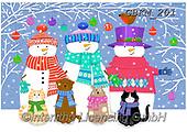 Kate, CHRISTMAS SANTA, SNOWMAN, WEIHNACHTSMÄNNER, SCHNEEMÄNNER, PAPÁ NOEL, MUÑECOS DE NIEVE, paintings+++++Christmas page 73,GBKM201,#x#