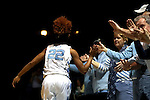 16 February 2017: North Carolina's Paris Kea is introduced. The University of North Carolina Tar Heels hosted the Ramblin' Wreck from Georgia Tech University at Carmichael Arena in Chapel Hill, North Carolina in a 2016-17 NCAA Division I Women's Basketball game. North Carolina won the game 89-88.