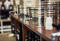 Aged balsamic vinegar shop.