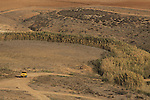 Israel, Coastal Plain, a view of Nahal Shikma from Tel Nagila