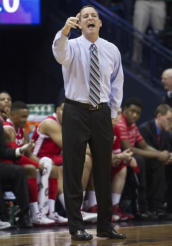January 19, 2013:  Rutgers head coach Mike Rice directs his team during NCAA Basketball game action between the Notre Dame Fighting Irish and the Rutgers Scarlett Knights at Purcell Pavilion at the Joyce Center in South Bend, Indiana.  Notre Dame defeated Rutgers 69-66.