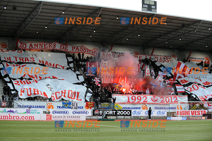 Supporters  .Football Calcio 2012/2013.Ligue 1 Francia.Foto Panoramic / Insidefoto .ITALY ONLY