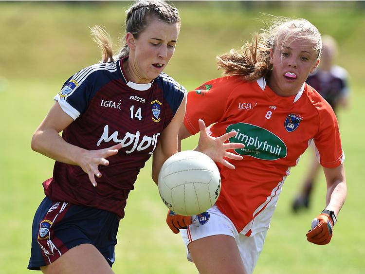 Westmeath Johanna Maher Armagh Niamh Coleman. Photo:Colin Bell/pressphotos.ie