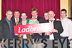 PREVIEW: Looking for winners at the Cheltenham preview night at the Dromhall Hotel, Killarney, on Thursday were, l-r: Donal McCarthy (Ladbrookes), David Duggan (At The Races), Jim Culloty, Vince Casey, Killarney, Kevin Ryan (At The Races), Murt Murphy and Donal McCarthy (Ladbrookes).