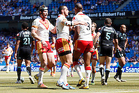 PICTURE BY VAUGHN RIDLEY/SWPIX.COM - Rugby League - Super League Magic Weekend - Catalans Dragons v London Broncos - Eithad Stadium, Manchester, England - 27/05/12 - Catalan's Leon Pryce scores a try.