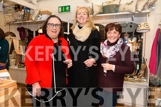 Orla Uí Chochlain, Niamh Uí Shé and Josie Finn at the Coach House Dingle's twinkle Thursday Christmas celebrations.