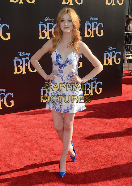 21 June 2016 - Hollywood. Katherine McNamara. Arrivals for the Premiere Of Disney's &quot;The BFG&quot; held at El Capitan Theater. <br /> CAP/ADM/BT<br /> &copy;BT/ADM/Capital Pictures