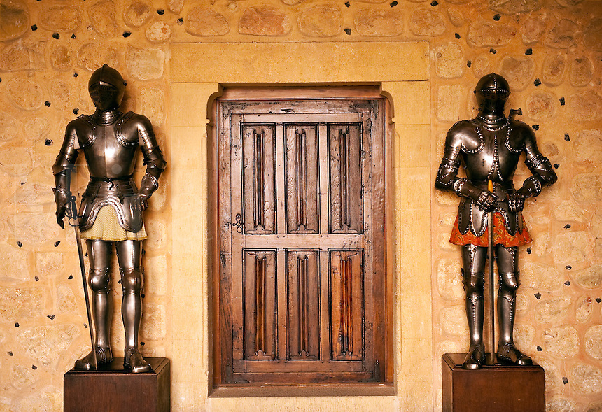 Knight in suit of armor, Alcazar, Segovia, Spain