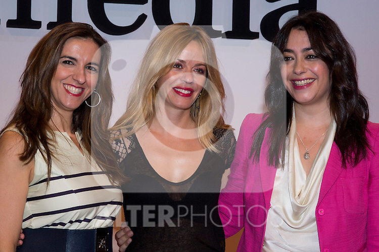 18.09.2012. Presentation of 'SMedia Group Theatre Season 2012/2013' at the Theater Cofidis in Madrid. In the image (L-R) Llum Barrera, Maria Adanez and Maria Isasi (Alterphotos/Marta Gonzalez) .
