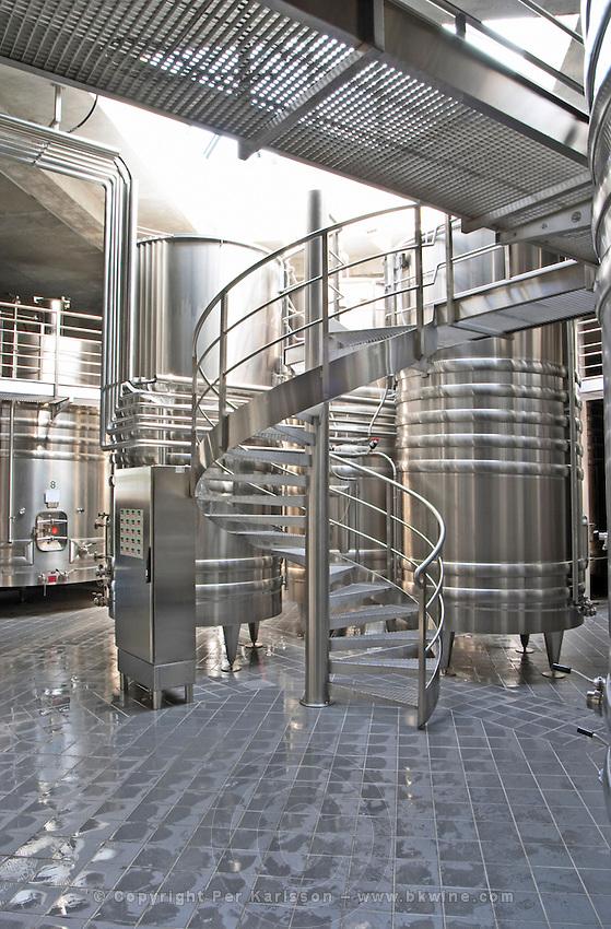Fermentation tanks. Domaine Henri Bourgeois, Chavignol, Sancerre, Loire, France