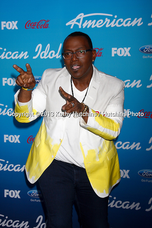"LOS ANGELES - MAR 7:  Randy Jackson arrives at the 2013 ""American Idol"" Finalists Party at the The Grove on March 7, 2013 in Los Angeles, CA"