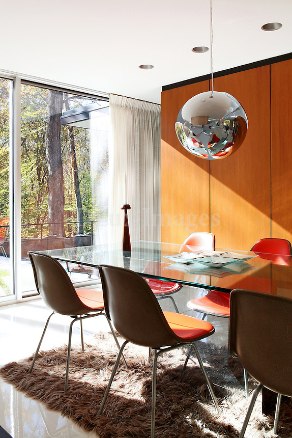 contemporary bright dining room