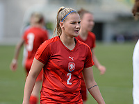 20180302 - LARNACA , CYPRUS : Czech Aneta Dedinova pictured during a women's soccer game between Austria and Czech Republic , on friday 2 March 2018 at the AEK Arena in Larnaca , Cyprus . This is the second game in group B for Austria and Czech Republic during the Cyprus Womens Cup , a prestigious women soccer tournament as a preparation on the World Cup 2019 qualification duels. PHOTO SPORTPIX.BE | DAVID CATRY