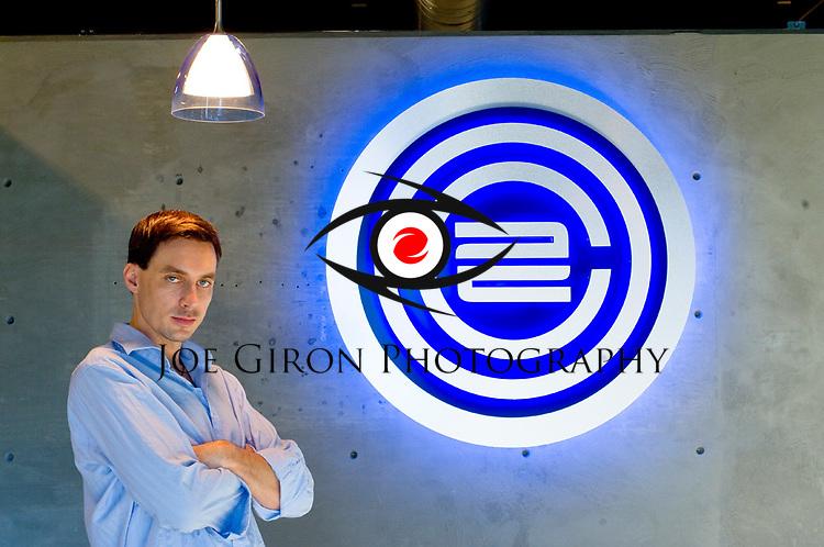 "Portraits of web designer Eric Jordan for a "".net magazine interview"" article."