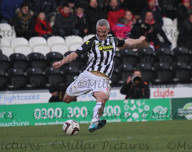 Jim Goodwin in the St Mirren v Aberdeen Scottish Professional Football League Premiership match played at St Mirren Park, Paisley on 15.2.14.