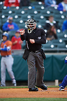 Umpire Jeremy Riggs during a game between the Durham Bulls and Buffalo Bisons on June 13, 2016 at Coca-Cola Field in Buffalo, New York.  Durham defeated Buffalo 5-0.  (Mike Janes/Four Seam Images)
