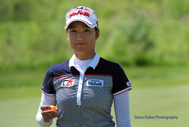WATERLOO, ON - JUNE 6: Chella Choi, of South Korea, smiles as she walks off the seventh hole during the second round of the Manulife Financial LPGA Classic at the Grey Silo Golf Course on June 6, 2014 in Waterloo, Ontario, Canada. (Photo by Steve Dykes/Getty Images) *** Local Caption *** Chella Choi
