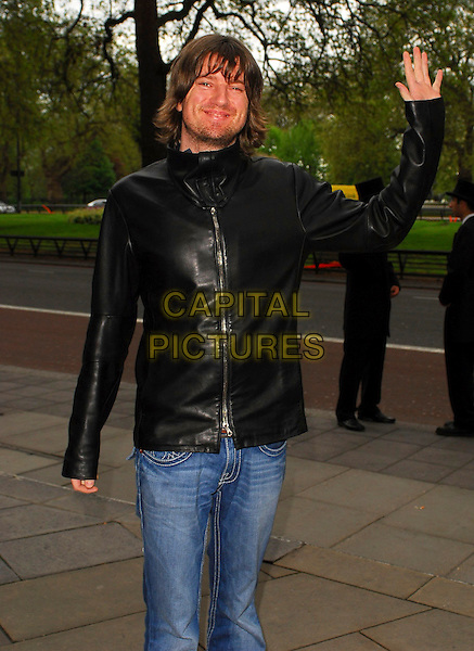 DANNY McNAMARA - EMBRACE.Arrivals at the Sony Radio Academy Awards 2006 at Grosvenor House Hotel, London, UK..May 8th, 2006.Ref: CAN.half length black leather jacket hand waving gesture.www.capitalpictures.com.sales@capitalpictures.com.© Capital Pictures.