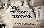 Australian Treasurer Scott Morrison talks to the media in the Budget Lockup at Parliament House in Canberra, Australia, on Tuesday, May 9, 2017.  Photographer: Mark Graham/Bloomberg