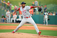 Southern Divisions pitcher Denyi Reyes (41) of the Greenville Drive delivers a pitch during the South Atlantic League All Star Game at First National Bank Field on June 19, 2018 in Greensboro, North Carolina. The game Southern Division defeated the Northern Division 9-5. (Tony Farlow/Four Seam Images)