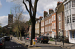 St John's church. Church Row,  Hampstead village, London NW3. England 2006.