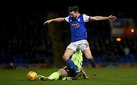 Ipswich Town's Gwion Edwards battles with Sheffield United's Enda Stevens<br /> <br /> Photographer Hannah Fountain/CameraSport<br /> <br /> The EFL Sky Bet Championship - Ipswich Town v Sheffield United - Saturday 22nd December 2018 - Portman Road - Ipswich<br /> <br /> World Copyright © 2018 CameraSport. All rights reserved. 43 Linden Ave. Countesthorpe. Leicester. England. LE8 5PG - Tel: +44 (0) 116 277 4147 - admin@camerasport.com - www.camerasport.com