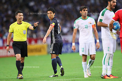 Makoto Hasebe (JPN), <br /> OCTOBER 6, 2016 - Football / Soccer : <br /> FIFA World Cup Russia 2018 Asian Qualifier <br /> Final Round Group B <br /> between Japan 2-1 Iraq <br /> at Saitama Stadium 2002, Saitama, Japan. <br /> (Photo by Yohei Osada/AFLO SPORT)