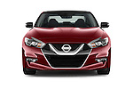 Car photography straight front view of a 2016 Nissan Maxima Platinum 4 Door Sedan Front View