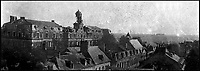 BNPS.co.uk (01202 558833)<br /> Pic: PoppylandPublishing/BNPS<br /> <br /> An image of Arras taken by Sergeant Stanley which shows the effect of shelling in the town.<br /> <br /> Left to gather dust in a darkened attic for decades, they are the diaries and secret photos documenting the hell and horrors of the battlefields of the First World War.<br /> <br /> It wasn't until Heather Brodie had a clear out that the unknown but remarkable archive kept by her late father, Sergeant Horace Reginald Stanley, came to light.<br /> <br /> His emotive diary and remarkable images taken with a camera he smuggled into the trenches paint a harrowing picture of life on the front line at Ypres and The Somme.<br /> <br /> He wrote of how he witnessed comrades next to killed by German shelling and described the hopelessness and terror one felt as the men waited for their turn to be hit.<br /> <br /> His writings were even more poignant as his elder brother Frederick was killed after his dugout suffered a direct hit near Arras.