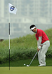 SUZHOU, CHINA - APRIL 18:  Y.E. Yang of Korea chips into the 16th green during the Round Four of the Volvo China Open on April 18, 2010 in Suzhou, China.  Photo by Victor Fraile / The Power of Sport Images