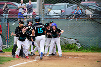 June 18, 2017: Championship game action from Bridgewater Little League Teachers vs Bridgewater Savings Bank game played at Legion Field, in Bridgewater, Mass. Eric Canha/BridgewaterSports