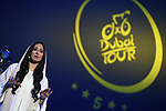 The opening ceremony held at the Skydive Dubai before the Dubai Tour 2018 the Dubai Tour&rsquo;s 5th edition held at Dubai Frame in Zabeel Park, Dubai, United Arab Emirates. 5th February 2018.<br /> Picture: LaPresse/Fabio Ferrari | Cyclefile<br /> <br /> <br /> All photos usage must carry mandatory copyright credit (&copy; Cyclefile | LaPresse/Fabio Ferrari)