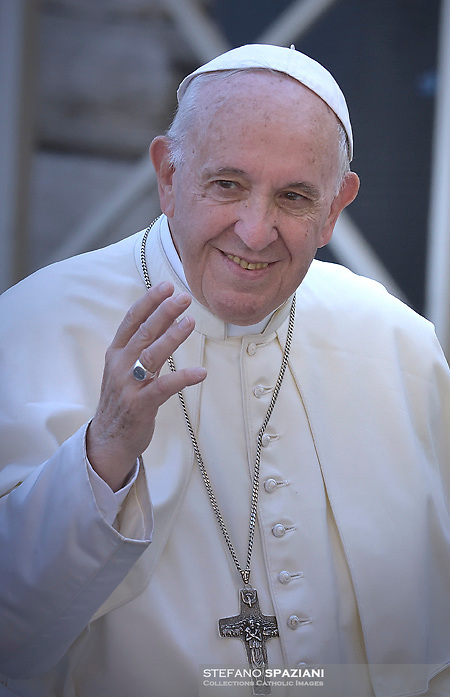 Pope Francis presides over a canonization ceremony in St Peter's Square at the Vatican, on October 14, 2018. Pope Francis canonizes two of the most important and figures of the 20th-century Catholic Church, declaring Pope Paul VI and the martyred Salvadoran Archbishop Oscar Romero.