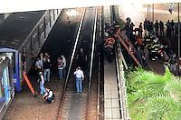 SAO PAULO, 16 DE MAIO DE 2012 - CHOQUE DE TRENS METRO LINHA VERMELHA SP - Dois trens se chocaram na manha de hoje entre as estacoes Carrao e Penha da linha vermelha. Ate agora ha informacoes de 5 vitimas em estado medio e pelo menos 35 feridos. Bombeiros trabalham na retirada das pessoas dos trens. FOTO:ALEXANDRE MOREIRA - BRAZIL PHOTO PRESS