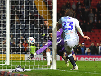 Blackburn Rovers' Bradley Dack scores his sides 2nd goal<br /> <br /> Photographer Dave Howarth/CameraSport<br /> <br /> The EFL Sky Bet Championship - Blackburn Rovers v Derby County -Tuesday 9th April 2019 - Ewood Park - Blackburn<br /> <br /> World Copyright &copy; 2019 CameraSport. All rights reserved. 43 Linden Ave. Countesthorpe. Leicester. England. LE8 5PG - Tel: +44 (0) 116 277 4147 - admin@camerasport.com - www.camerasport.com