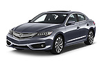 2016-2017 Acura ilx Tech Plus and A Spec Package 4 Door Sedan angular front stock photos of front three quarter view