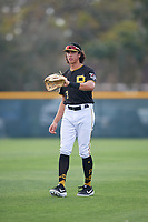 Pittsburgh Pirates Cole Tucker (3) during the teams first Spring Training practice on February 18, 2019 at Pirate City in Bradenton, Florida.  (Mike Janes/Four Seam Images)