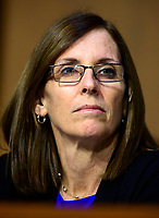 """United States Senator Martha McSally (Republican of Arizona) listens to testimony before the US Senate Committee on Armed Services during a hearing on """"Chain of Command's Accountability to Provide Safe Military Housing and Other Building Infrastructure to Service members and Their Families"""" on Capitol Hill in Washington, DC on Thursday, March 7, 2019.<br /> Credit: Ron Sachs / CNP/AdMedia"""