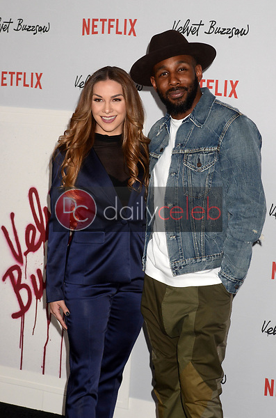 "Allison Holker, Stephen Boss<br /> at the ""Velvet Buzzsaw"" Los Angeles Premiere Screening, Egyptian Theater, Hollywood, CA 01-28-19<br /> David Edwards/DailyCeleb.com 818-249-4998"