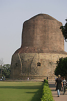 Dhamek Stupa monument one of four pilgrimage sites designated by Siddhartha Gautama Buddha<br />
