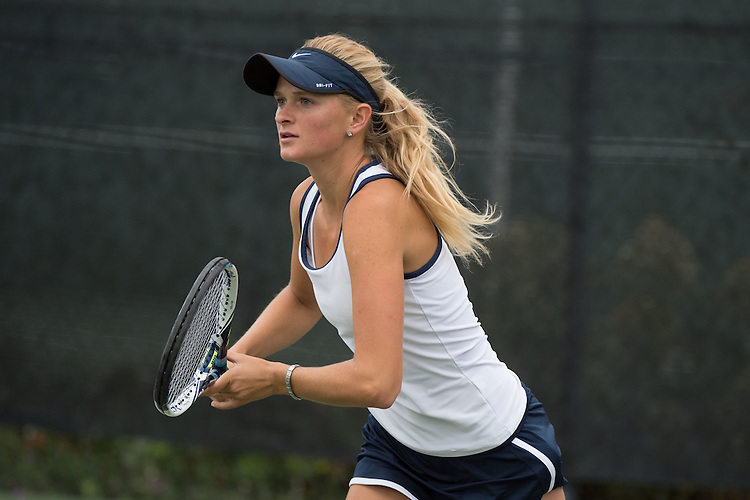 April 22, 2015; San Diego, CA, USA; San Diego Toreros tennis player Mikayla Morkel-Brink during the WCC Tennis Championships at Barnes Tennis Center.