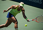 Angelique Kerber (GER) during the final against Karolina Pliskova (CZE) at the Bank of the West Classic in Stanford, CA on August 9, 2015.