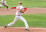 MIDDLETOWN, CT. 06 June 2018-060618BS566 - Wolcott's Brett Adams (4) delivers a pitch from the mound during the CIAC Tournament Class M Semi-Final baseball game between Ledyard and Wolcott at Palmer Field on Wednesday afternoon. Wolcott beat Ledyard 9-4 and advances to the Class M final this weekend. Bill Shettle Republican-American